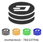 dash coin column icon. vector... | Shutterstock .eps vector #782137546