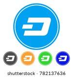 dash coin icon. vector... | Shutterstock .eps vector #782137636