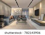 3d rendering luxury and modern...   Shutterstock . vector #782143906