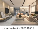 3d rendering luxury and modern...   Shutterstock . vector #782143912