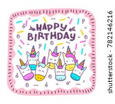 greeting card with a happy... | Shutterstock .eps vector #782146216