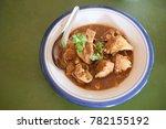 Small photo of Pork curry or Kaeng Hung Ley Moo (Thai name) Thai food