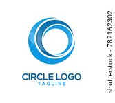 abstract circle logo design | Shutterstock .eps vector #782162302