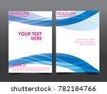 abstract blue wave business... | Shutterstock .eps vector #782184766