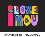 "vector colorful lettering ""i... 