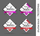 seasonal sale discount vector... | Shutterstock .eps vector #782205466