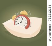 alarm clock on a pillow | Shutterstock .eps vector #782212156