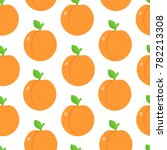 seamless pattern with peaches... | Shutterstock .eps vector #782213308
