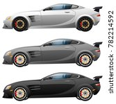 super car design concept.... | Shutterstock .eps vector #782214592