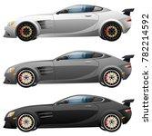 super car design concept.... | Shutterstock .eps vector #782214592