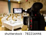 filming of the event....   Shutterstock . vector #782216446