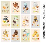 set of colorful posters... | Shutterstock .eps vector #782218732
