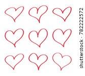 modern vector set of hand drawn ... | Shutterstock .eps vector #782222572