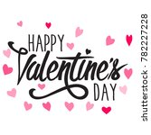 happy valentine's day | Shutterstock .eps vector #782227228