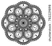 vector henna mandalas style... | Shutterstock .eps vector #782229898