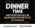 font alphabet script typeface... | Shutterstock .eps vector #782239468