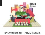 urban farming  gardening or... | Shutterstock .eps vector #782246536