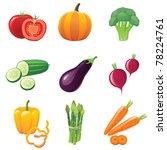 fresh shiny vegetables   icons... | Shutterstock .eps vector #78224761