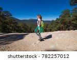side view of brunette sport... | Shutterstock . vector #782257012