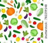 seamless pattern with colorful... | Shutterstock .eps vector #782259148