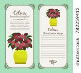 vintage label template with... | Shutterstock .eps vector #782259412