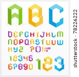 paper 3d alphabet letters and... | Shutterstock .eps vector #78226222