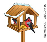 Winter Bird Feeder Pop Art...