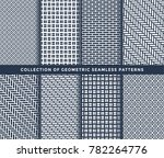 collection of seamless...   Shutterstock .eps vector #782264776