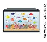 rectangular aquarium with...   Shutterstock .eps vector #782276212