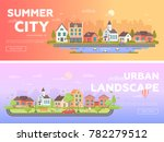 summer city  urban landscape  ... | Shutterstock .eps vector #782279512