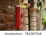Red Postbox On An Antique Brick ...