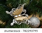 christmas and new year's tree... | Shutterstock . vector #782293795