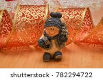 ceramic snowman on a christmas...   Shutterstock . vector #782294722