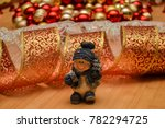 ceramic snowman on a christmas...   Shutterstock . vector #782294725