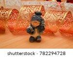 ceramic snowman on a christmas...   Shutterstock . vector #782294728
