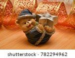 ceramic teddy bear on a...   Shutterstock . vector #782294962