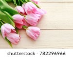 beautiful pink and white tulips ... | Shutterstock . vector #782296966