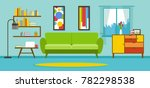 apartment living room interior... | Shutterstock .eps vector #782298538
