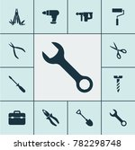 tools icons set with... | Shutterstock .eps vector #782298748