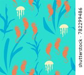 marine life seamless pattern... | Shutterstock .eps vector #782299486