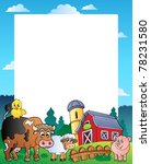 country frame with red barn 1   ... | Shutterstock .eps vector #78231580
