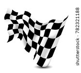 waving checkered flag. | Shutterstock .eps vector #782321188