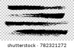 brush strokes isolated. ink ... | Shutterstock .eps vector #782321272
