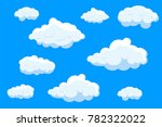 clouds set isolated on blue... | Shutterstock .eps vector #782322022