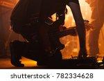 silhouette of bass guitar...   Shutterstock . vector #782334628