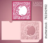 die laser cut wedding envelope... | Shutterstock .eps vector #782342902