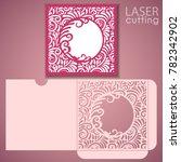 die laser cut wedding envelope... | Shutterstock .eps vector #782342902