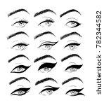 illustrations using a liner in... | Shutterstock .eps vector #782344582