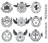 heraldic emblems isolated... | Shutterstock . vector #782346316