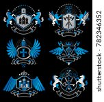 set of luxury heraldic... | Shutterstock . vector #782346352
